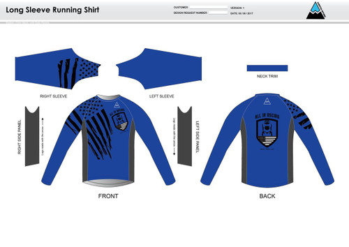 All In Racing Blue Long Sleeve Running Shirt