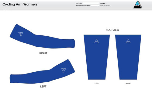 All In Racing Blue Cycling Arm Sleeves