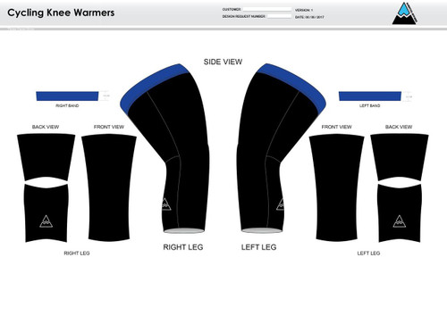 All In Racing Blue Cycling Knee Sleeves