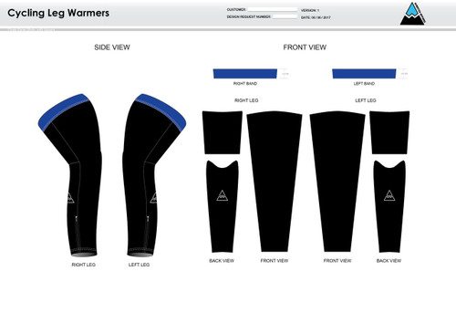 All In Racing Blue Cycling Leg Sleeves