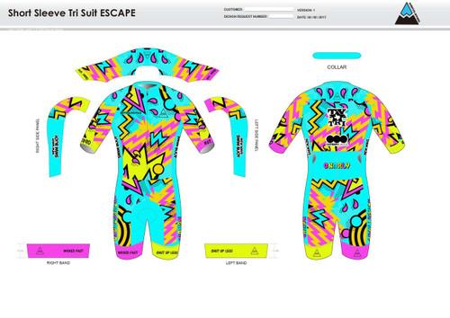 Macey ESCAPE Short Sleeve Tri Suit
