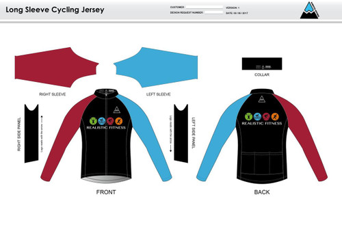 Realistic Fitness Long Sleeve Cycling Jersey