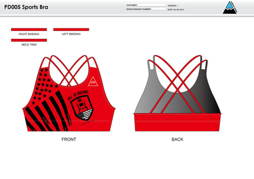 All In Racing Red Sports Bra