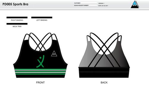 Apex Stretch Stripe Sports Bra