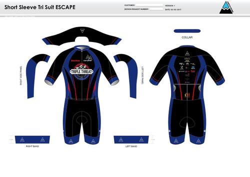 Triple Threat ESCAPE Short Sleeve Tri Suit
