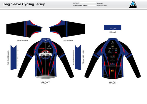 Triple Threat Long Sleeve Cycling Jersey