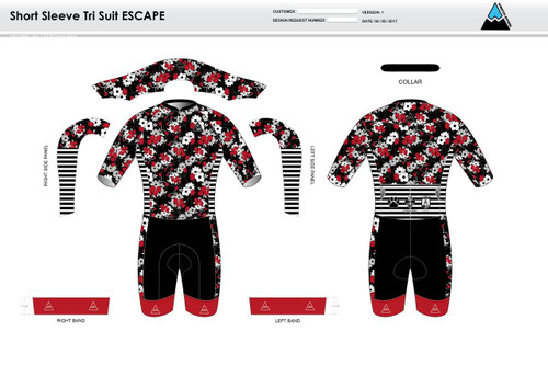 Cajun Mile ESCAPE Short Sleeve Tri Suit