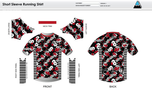 Cajun Mile Short Sleeve Running Shirt