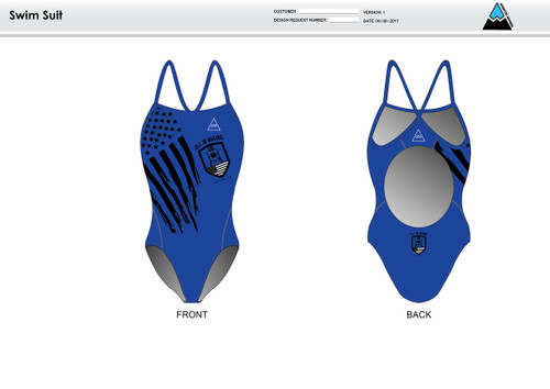 All In Racing Blue Women's One Piece Swimsuit