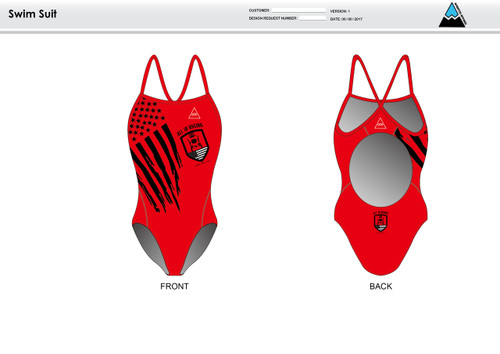 All In Racing Red Women's One Piece Swimsuit