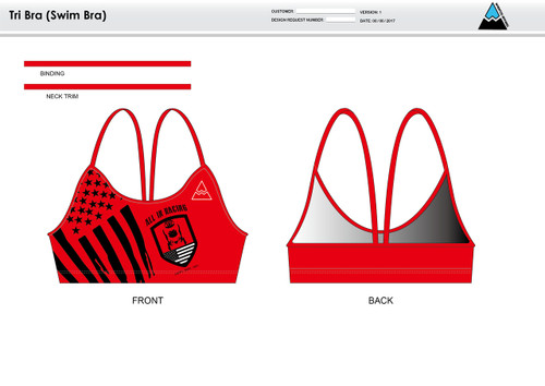 All In Racing Red Women's Two Piece Swimsuit