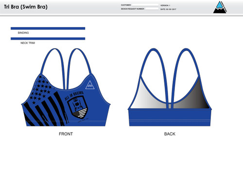 All In Racing Blue Women's Two Piece Swimsuit