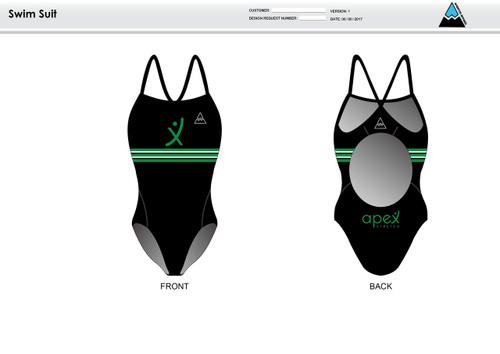 Apex Stretch Green Women's One Piece Swimsuit