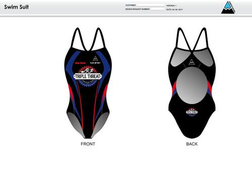 Triple Threat Women's One Piece Swimsuit
