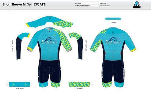 NLE ESCAPE Short Sleeve Tri Suit