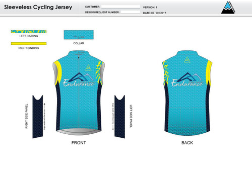 NLE Sleeveless Cycling Jersey