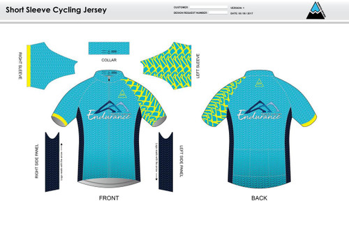 NLE Short Sleeve Cycling Jersey
