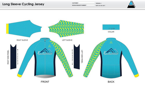 NLE Long Sleeve Cycling Jersey