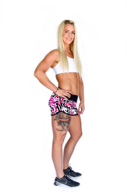 Pink ZigZag Women's Flash Running Shorts
