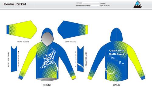 Gulf Coast Multisport Neon Casual Hoodie Jacket