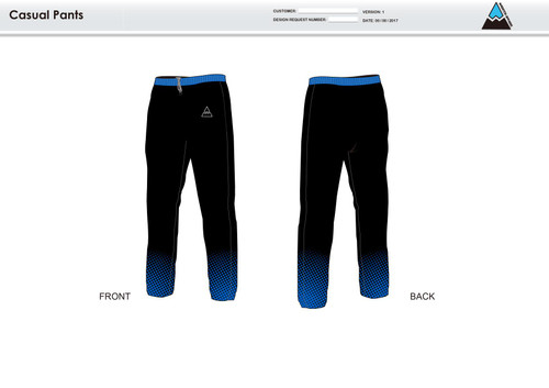 Gulf Coast Multisport Black Warm Up Pants
