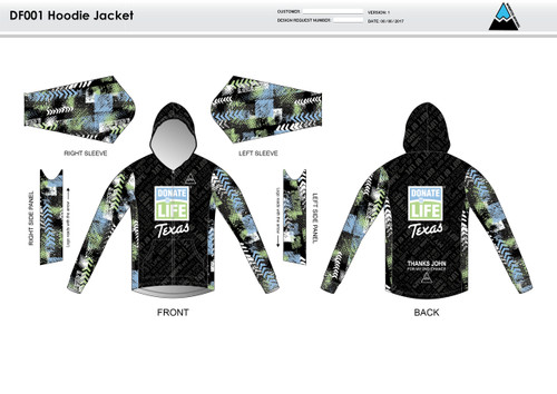 Donate Life Casual Hoodie Jacket