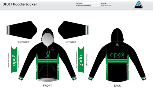 Apex Stretch Stripe Casual Hoodie Jacket