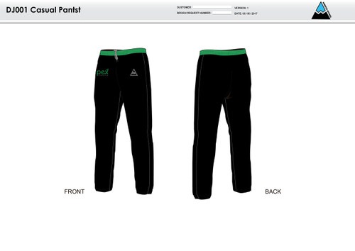 Apex Stretch Stripe Warm Up Pants