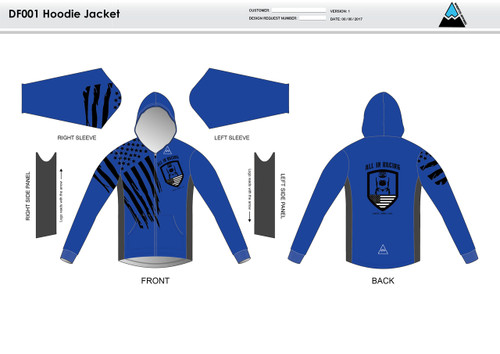 All In Racing Blue Casual Hoodie Jacket