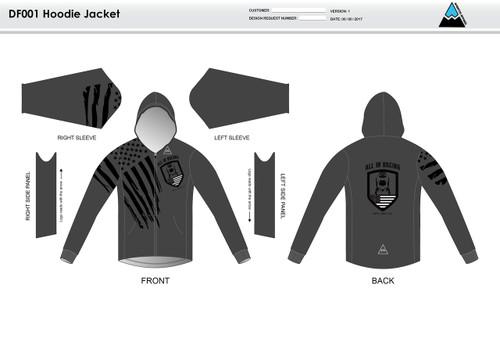 All In Racing Grey Casual Hoodie Jacket