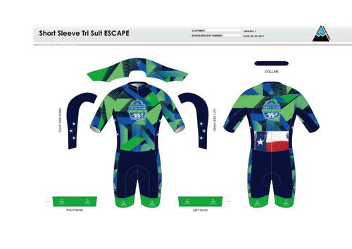 FWT Alternate ESCAPE Short Sleeve Tri Suit