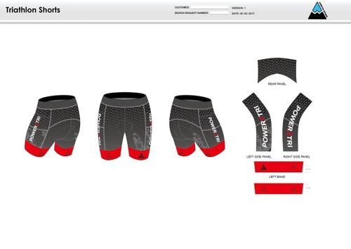 Power2Tri Red Women's Tri Shorts