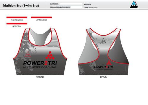 Power2Tri Red Triathlon Bra