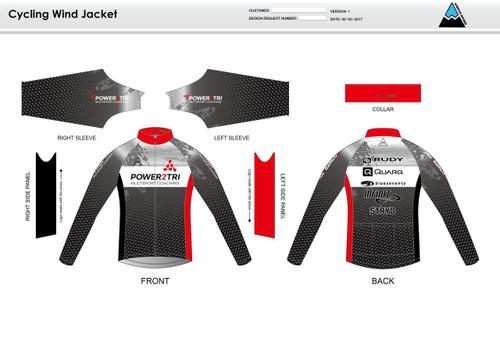 Power2Tri Red Wind Jacket