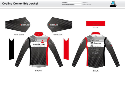 Power2Tri Red Convertible Jacket