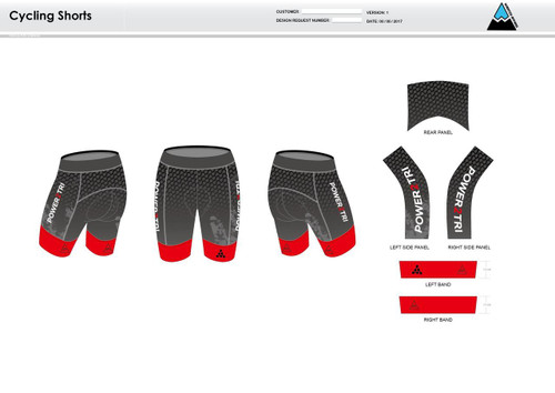 Power2Tri Red Cycling Shorts