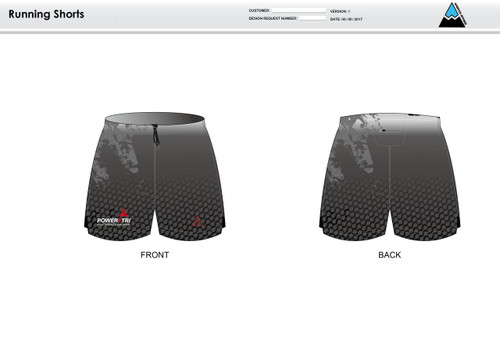 Power2Tri Red Running Shorts