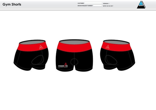 Power2Tri Red Women's Compression Fitness Shorts