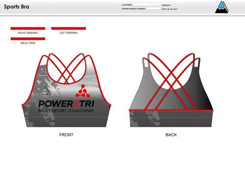 Power2Tri Red Sports Bra