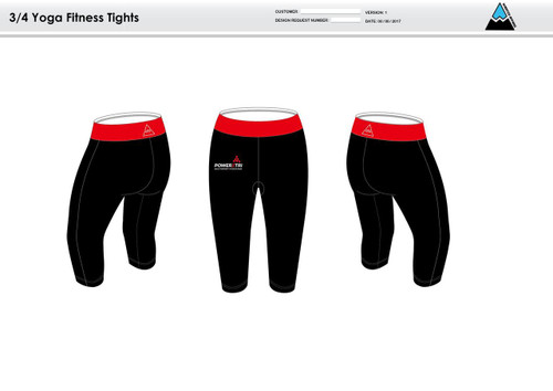 Power2Tri Red Women's 3/4 Fitness Tights
