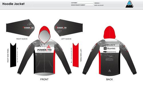 Power2Tri Red Hoodie Jacket