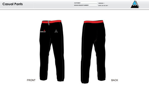 Power2Tri Red Warm Up Pants
