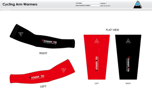 Power2Tri Red Cycling Arm Sleeves