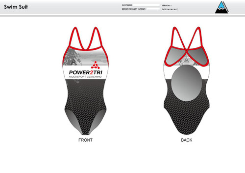 Power2Tri Red Women's One Piece Swimsuit