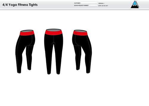 All In Racing Red Women's Full Length Fitness Tights