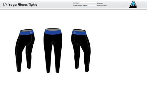All In Racing Blue Women's Full Length Fitness Tights