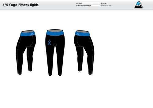 Apex Blue Women's Full Length Fitness Tights