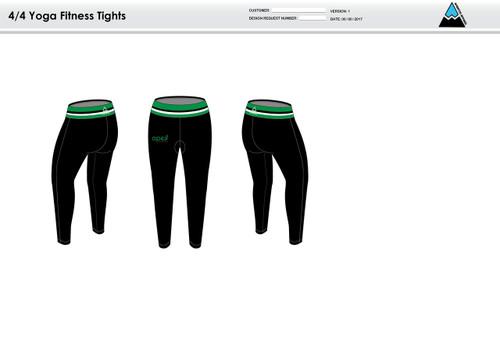 Apex Green Women's Full Length Fitness Tights