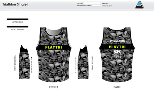 Playtri Men's Tri Singlet