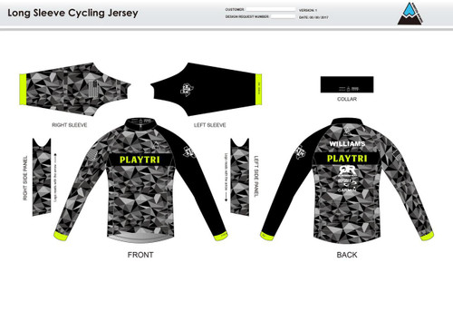 Playtri Long Sleeve Cycling Jersey